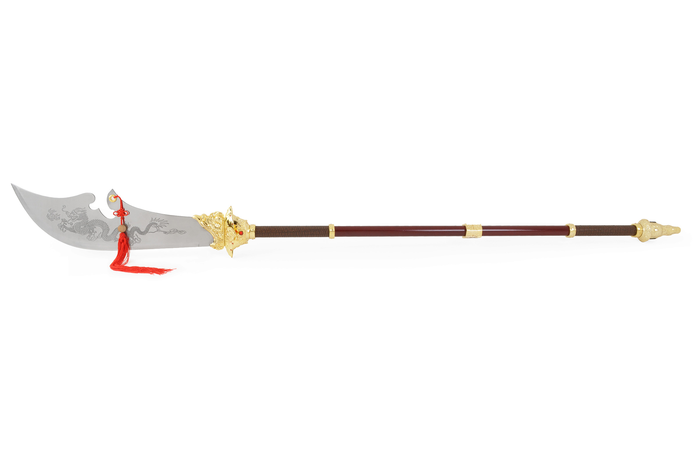 Hallebarde Guan Dao 6 «Guan Yue» Dorée