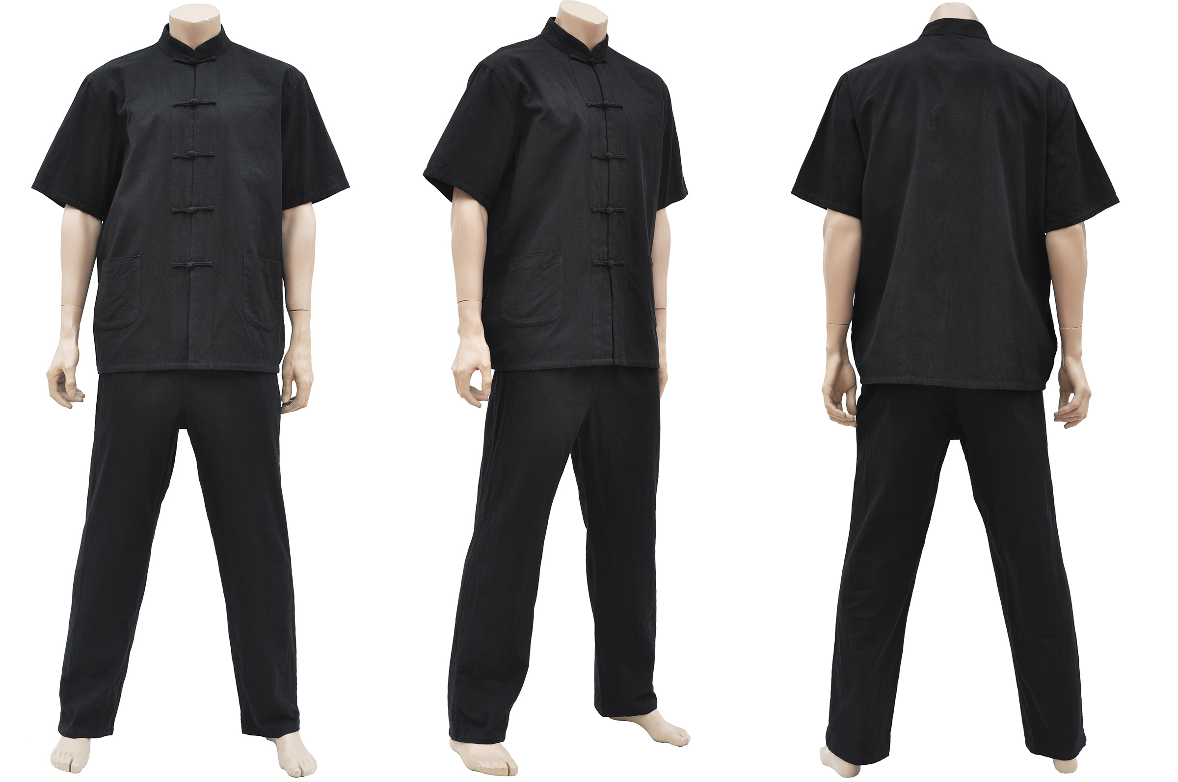 Tenue Traditionnelle «Tangzhuang» Manches Courtes, Coton