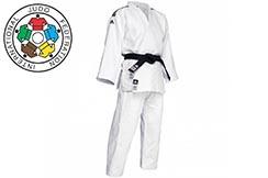 Kimono de judo Champion II BLANC, JIJF, Adidas