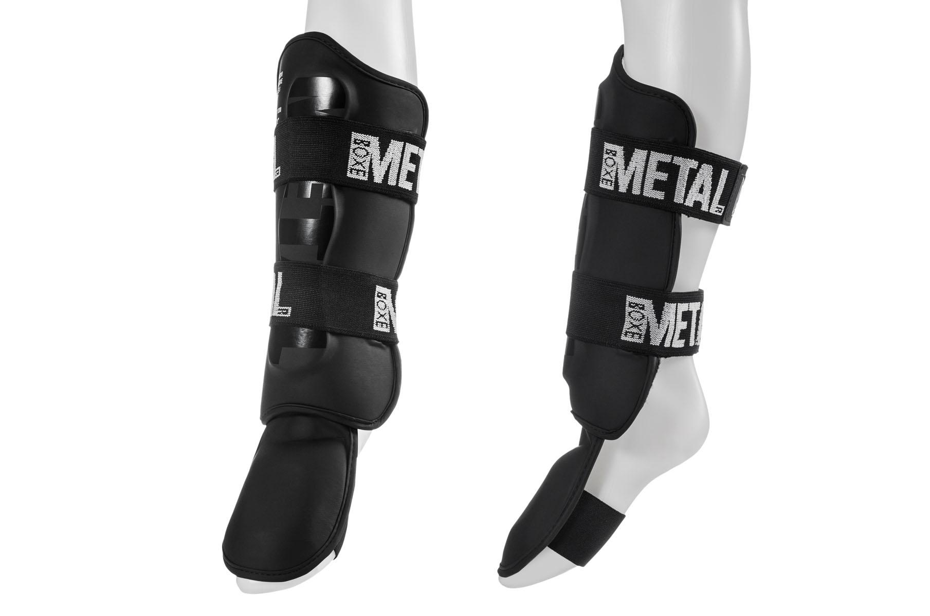 Protège Tibias Pieds Détachables, Metal Boxe MB210