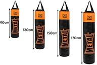 Punching bag, black orange, 120cm, MB3120, Métal boxe