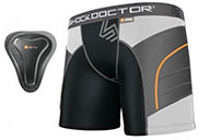 Short Compression Femme avec Coquille, Shock Doctor