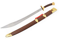 Sabre Traditionnel, Lame Epaisse Rigide, Doré