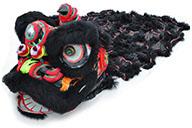 Southern Lion Dance Costume, Black/Black