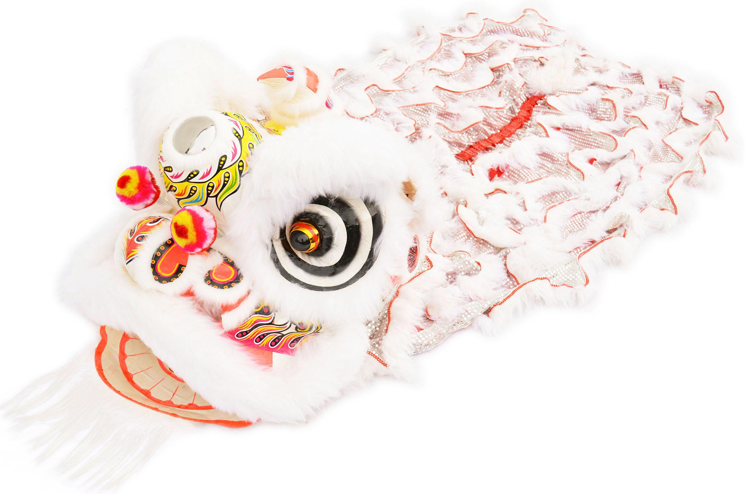 Costume Danse du Lion du Sud Blanc/Argent