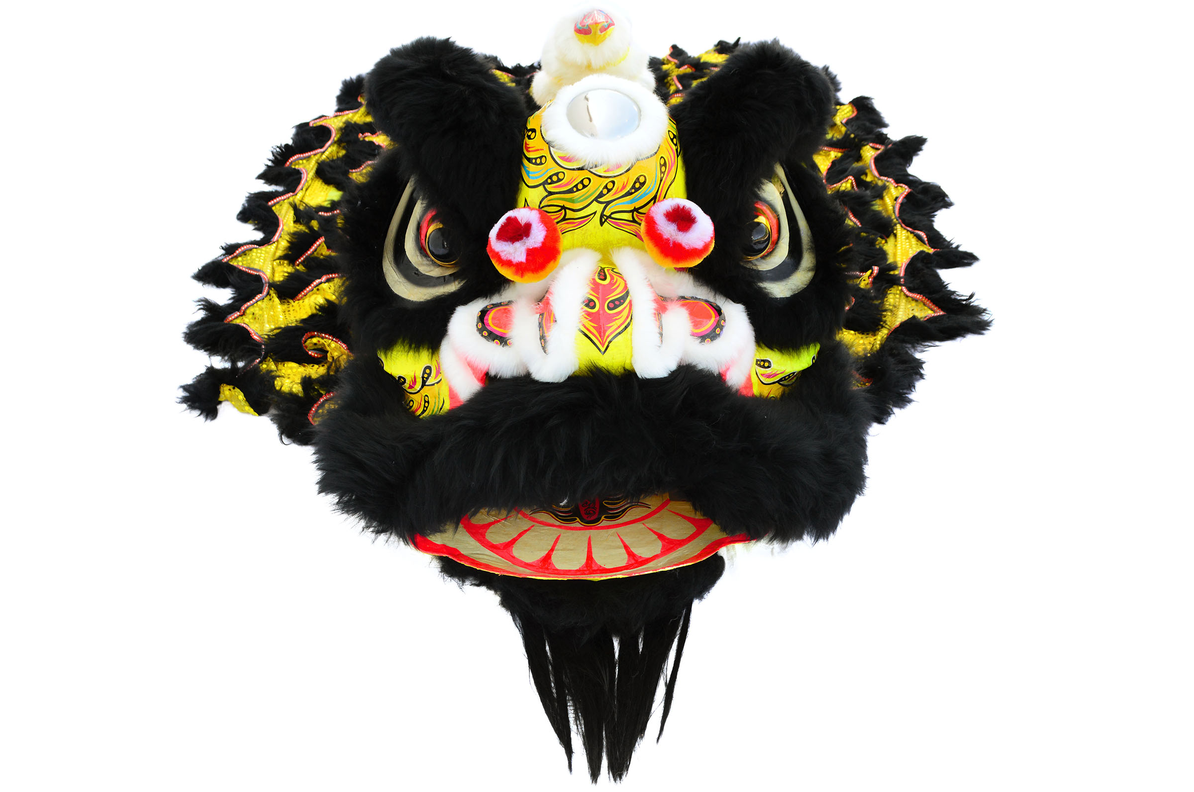 Southern lion dance costume black gold