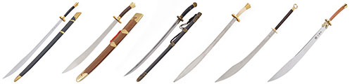 Sables de artes marciales