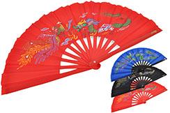 Tai Chi Fan (Tai Ji Shan) Dragon & Phoenix