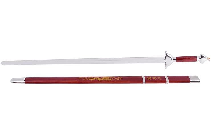 Espada con Vaina, Rojo/Plata - Semi-Flexible