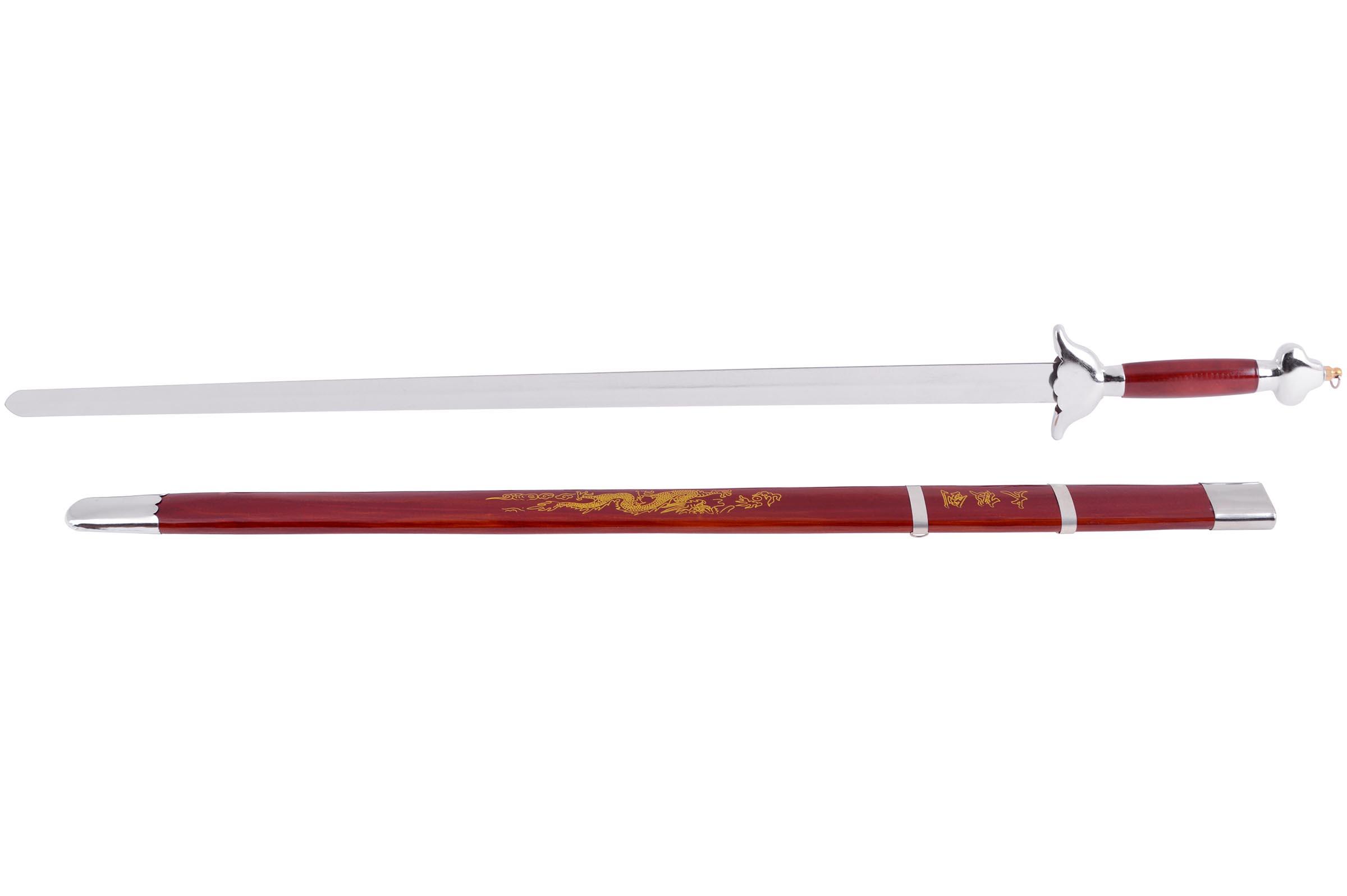 Épée Avec Fourreau, Rouge/Argent