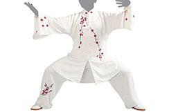 Jingyi Taiji Uniforme, Blanco - 1m65-1m70