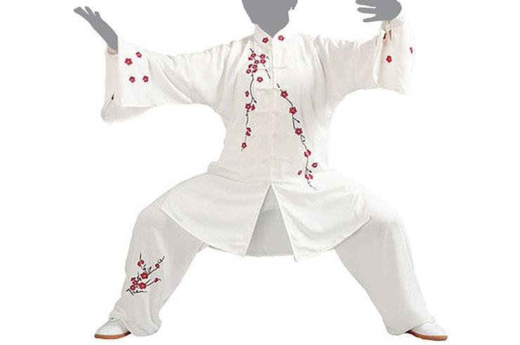 Jingyi Taiji Uniform, White - 1m65-1m70