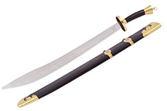 Stainless Steel Traditional Broadsword - Semi Flexible, High Range