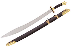 Sabre Traditionnel Inox, Lame Epaisse Rigide