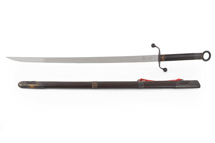 Sabre Traditionnel Tai Chi Style Chen (Haut de Gamme, Noir) - Rigide