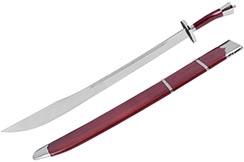 Sable Formación Kungfu, Con Funda, Rojo/Plata - Semi Flexible