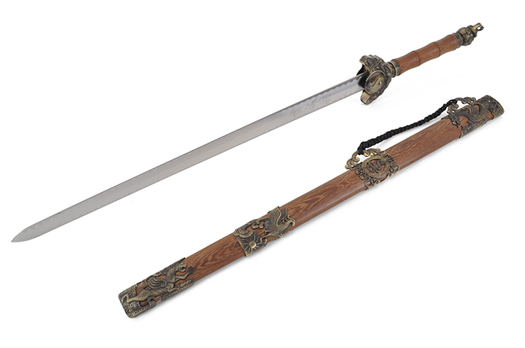 Épée Traditionnelle Wudang, 5 Animaux - Epaisse Rigide
