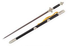 Épée Tai'e (Acier Damas) - Rigide Aiguisée
