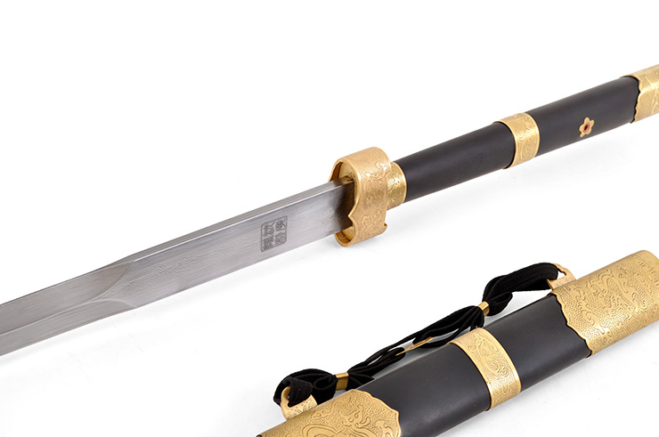Épée Zhizun (Acier Damas) - Rigide Aiguisée
