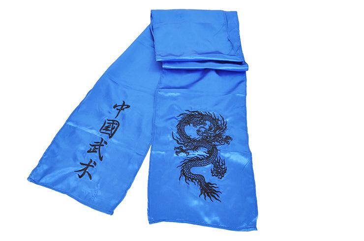 Cinturón de Kung Fu Dragón bordado, Seda Imitación
