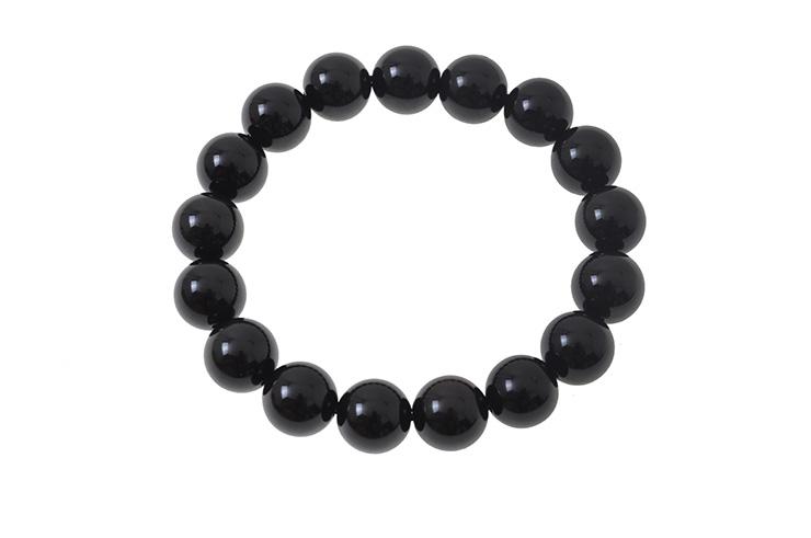 Bracelet Obsidienne, Longue Vie - Pierre 12 mm