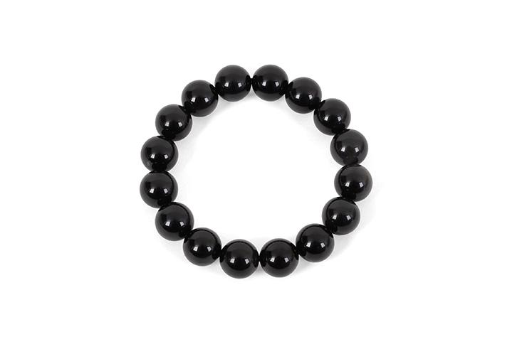 Bracelet, Obsidian - Stone 12 mm