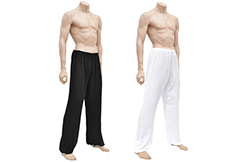 Kung-fu, Wushu Pants, Viscose+Cotton, Black