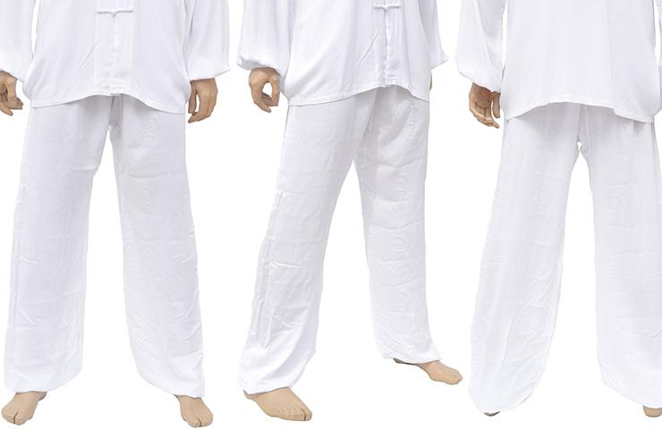Pantalón de Kung Fu, Tai Chi, Viscosa + Algodón