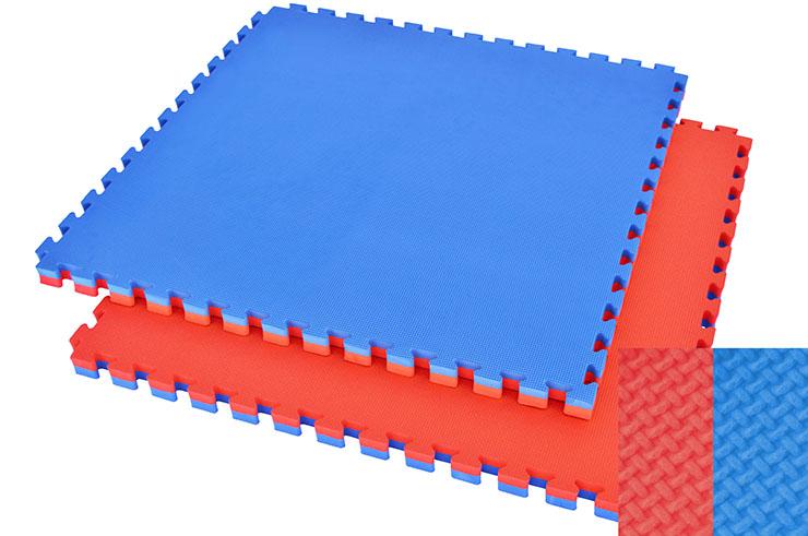 Tatami Puzzle, 4cm, Bleu/Rouge