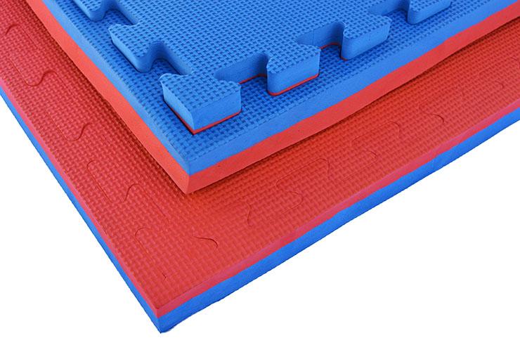 Puzzle Mat, 4cm, Blue/Red, T pattern, Multipurpose