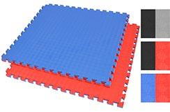 Tatami Puzzle 2,5 cm, Bleu/Rouge, Motif Rhombique (anti-dérapant)