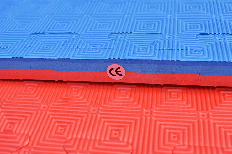 Puzzle Mat 2.5cm, Blue/Red, Rhombic pattern (Anti-slip)