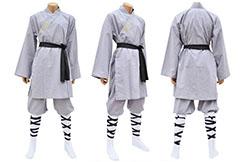 Traje de Shaolin, Algodón Gris