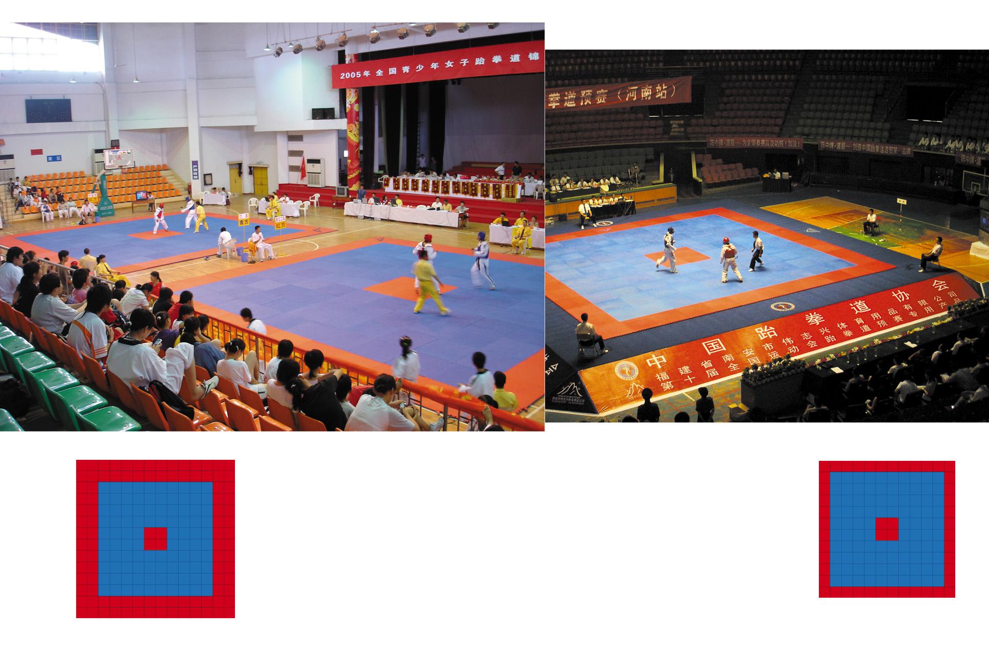 Surface de Taekwondo, Wesing