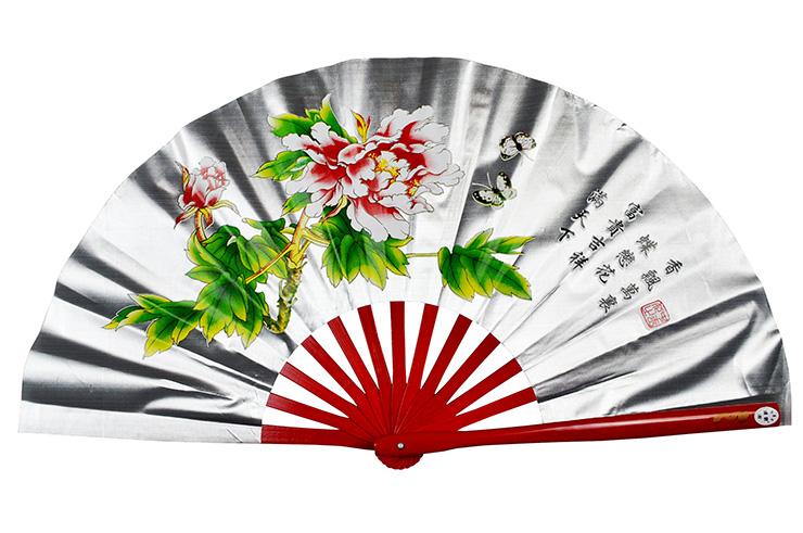 Éventail Tai Chi (Tai Ji Shan) Pivoine
