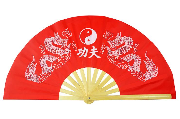 Abánico Tai Chi (Tai Ji Shan) Dragón Doble