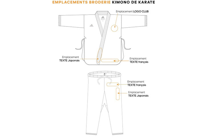 Kimono de Karate, Bushido Negro - K240B, Adidas