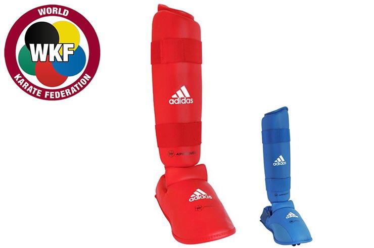 Espinilleras y Protector Pies WKF, Amovible - 661.35D, Adidas