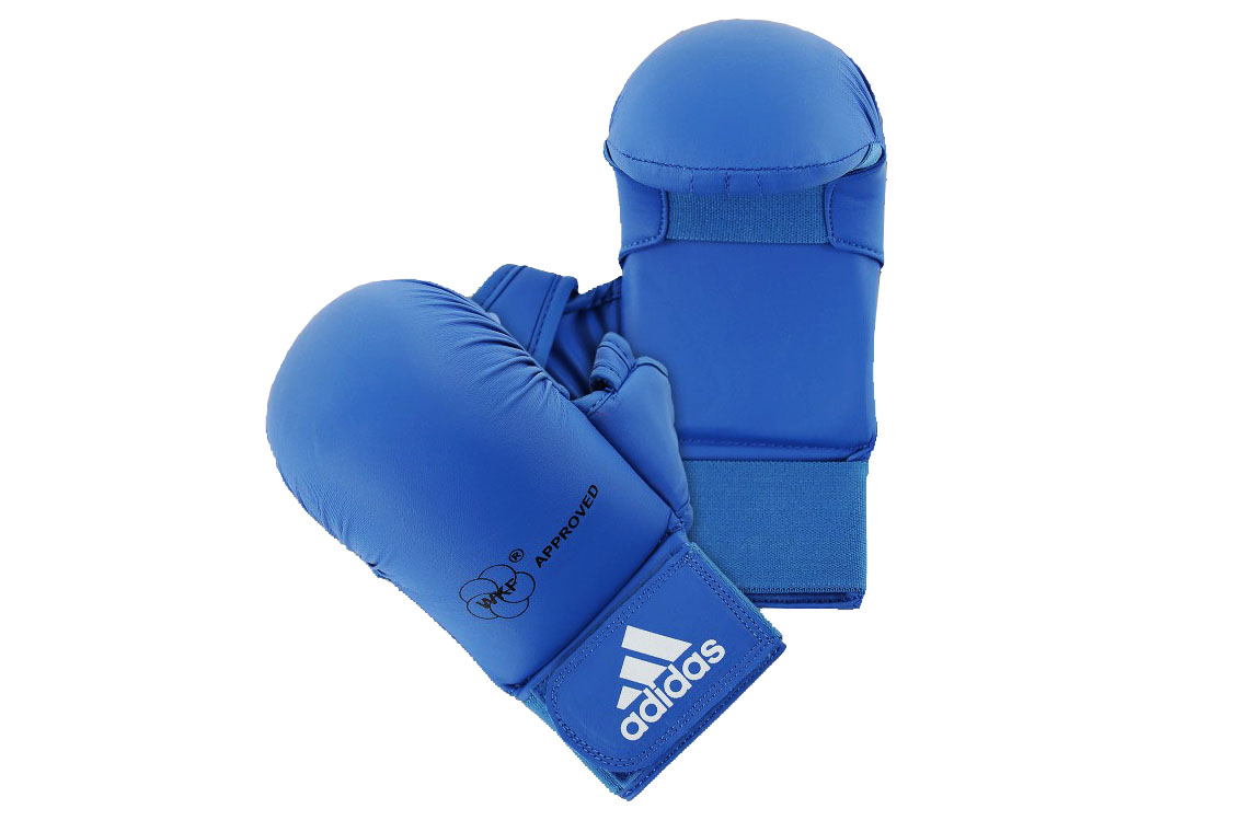 New Karate Mitts WKF Approved Karate Glove Hand Protector Sparring Gear-Wacoku