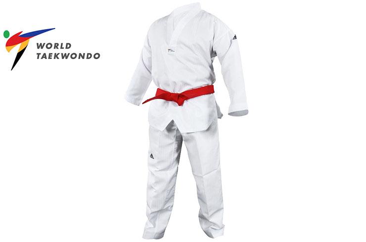 Dobok Initiation - White collar & unmarked, WTF - ADITS01, Adidas