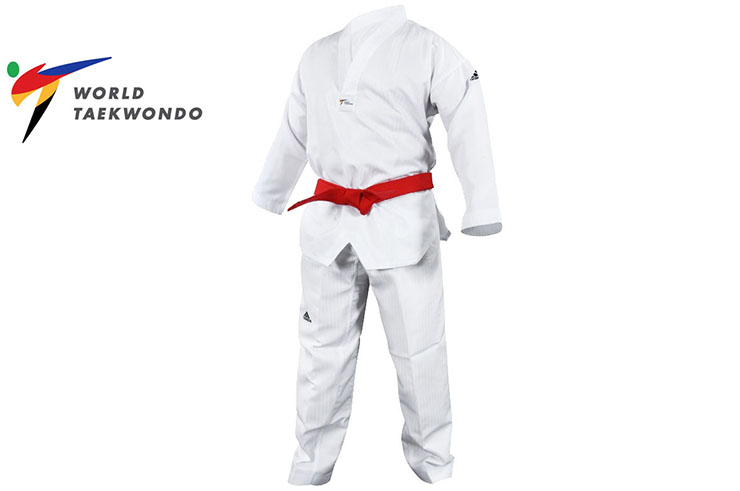 Dobok Initiation - Col Blanc & sans marquage - WTF adiTS01, Adidas