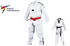 Dobok Taekwondo WTF, Cuello Blanco - ADITCB02, Adidas