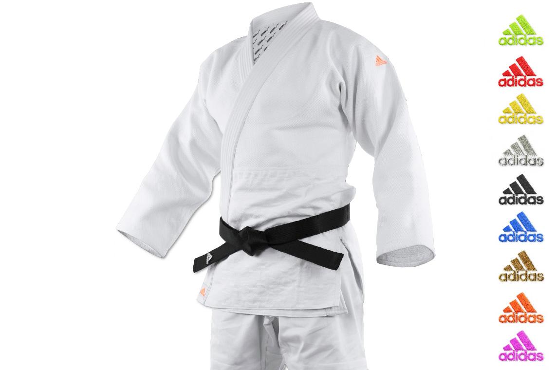 brand new c318f dd379 Kimono de judo J990EM, Millenium, Blanc, Adidas ...