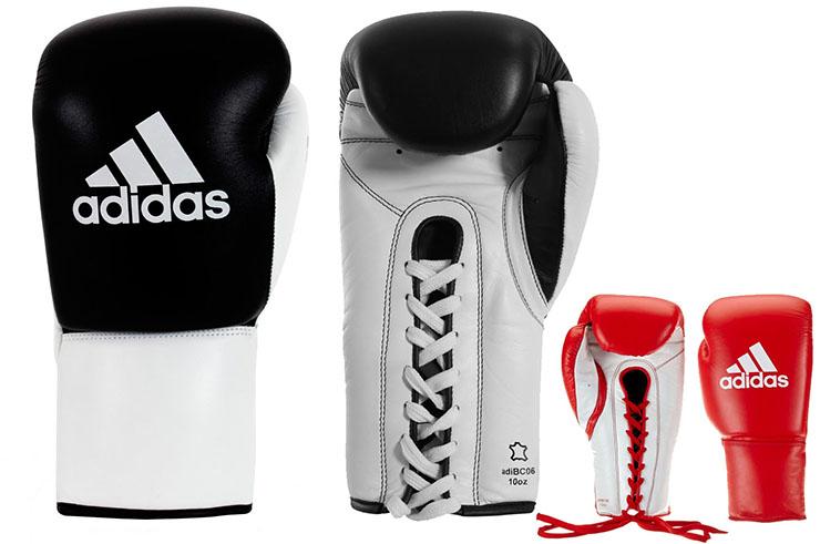 Gants multiboxe en cuir, Lacets - ADIBC06, Adidas