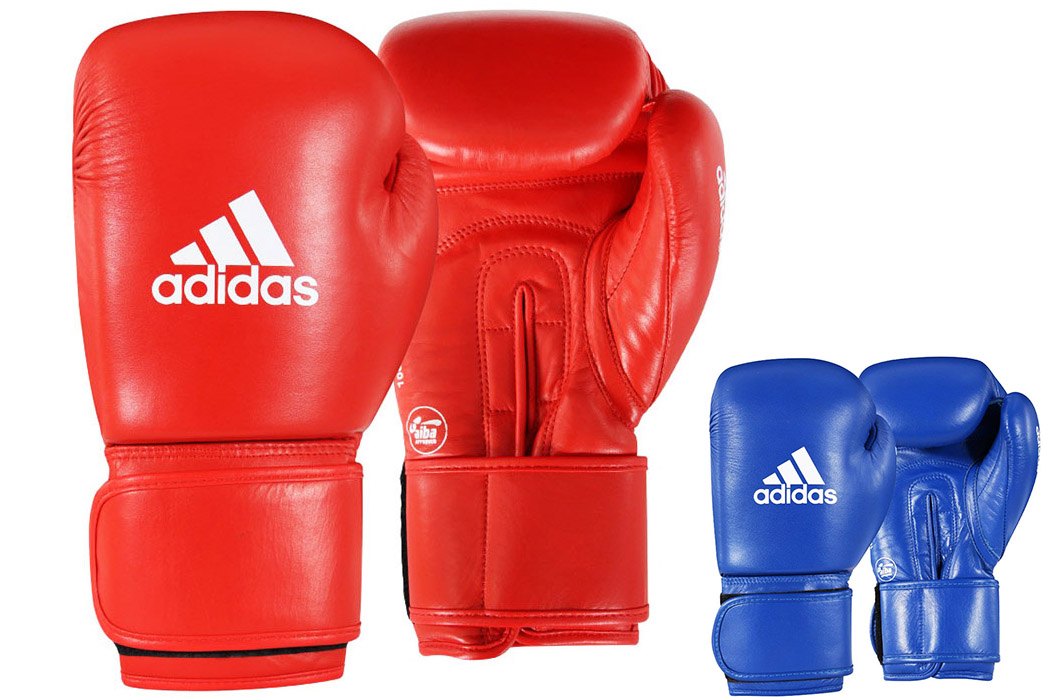 adidas Boxing Leather Blue Lace Pro Gloves