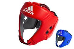 Casco AIBA de Cuero Boxeo Aficionado, Adidas AIBAH1
