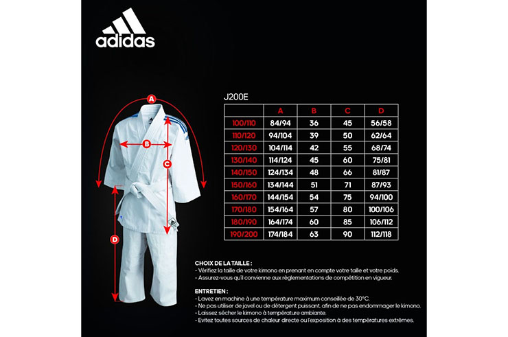 Kimono de Judo, Enfant Evolutif- J200E , Adidas