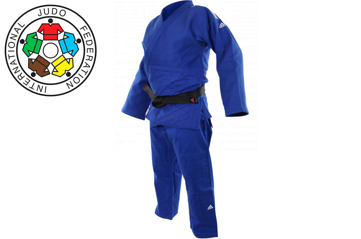 Judo kimono, Champion II, BLUE, JIJF, Adidas