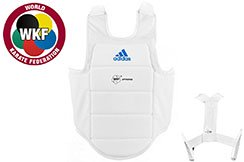 Plastron Karaté - Blanc - WKF ADIP03, Adidas