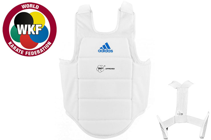 Plastron Karaté, Blanc - WKF ADIP03, Adidas